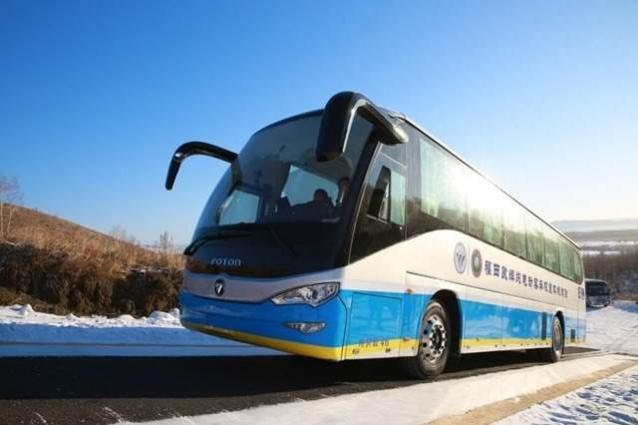 Urdupoint: Fuel Cell buses pass extreme cold test.